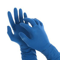 Перчатки латексные неопудренные A.D.M, размер M, 50 шт/уп, цвет синий