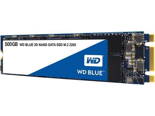 Жесткий диск внутренний Western Digital (WD) Blue  WDS500G2B0B (5Тб (5000Гб), SSD, M.2, Для ноутбуков, SATA) WDS500G2B0B