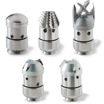 Роторные насадки со сменными головкамии разного типа