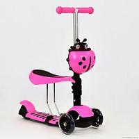 Самокат Scooter 5в1, розовый