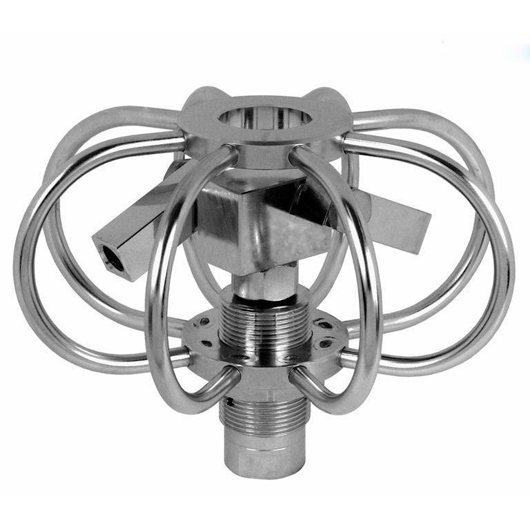 Насадка для мойки емкостей Mosmatic TYR-2s с регулируемыми роторными кронштейнами для изменяемых угло