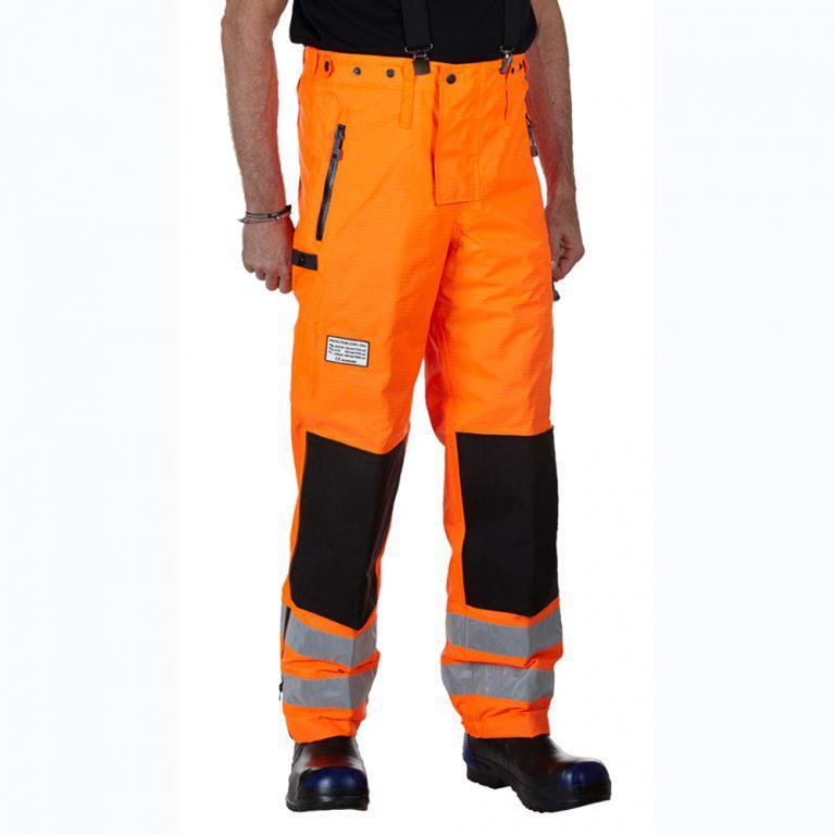 Защитные брюки TST ProOperator. Повышенная видимость. Защита спереди. Уровень защиты 5/5/2