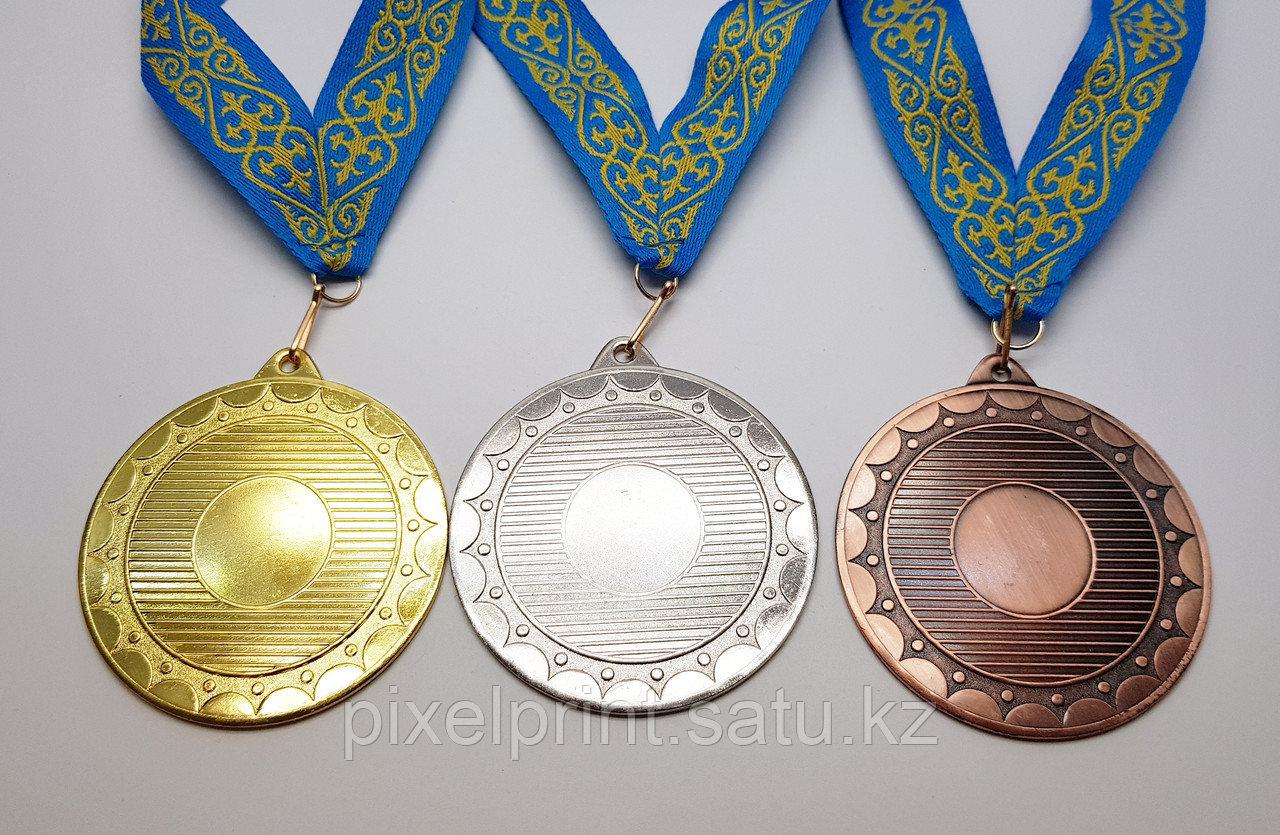 Медаль металлическая бронза с лентой