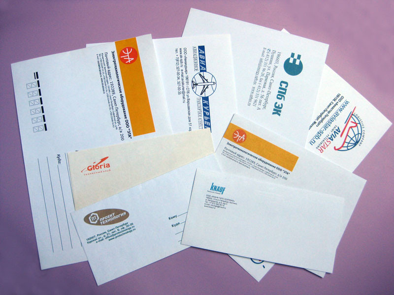 Печать на конверте