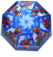 """Зонт-трость детский синий """"Marvel Мстители"""""""