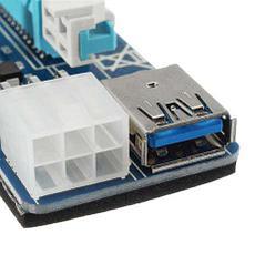 Riser / Райзер PCIE 1x - 16x, 6 PIN, версия 006c, фото 3