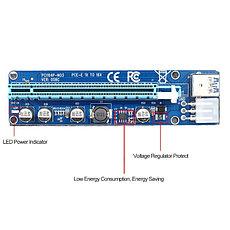 Riser / Райзер PCIE 1x - 16x, 6 PIN, версия 006c, фото 2