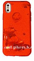 Чехол для смартфона гелевый на IPHONE X красный