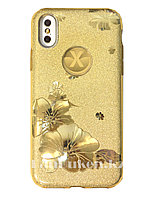 Чехол для смартфона гелевый на IPHONE X золотой