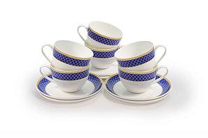 Аружан набор чайных пар (ярко-синий)