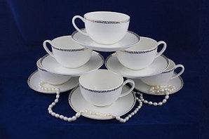 Изольда набор чайных пар (рельефный узор)