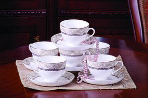 Людовик набор чайных пар (светлый)