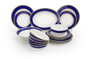 Аружан столовый сервиз (ярко-синий)