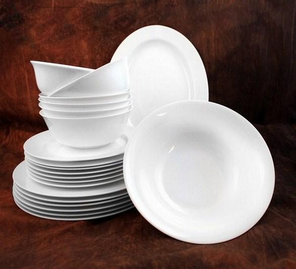 Белый столовый сервиз Классика (без декора)