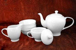 Белый чайный сервиз с пиалами Классика (без декора)