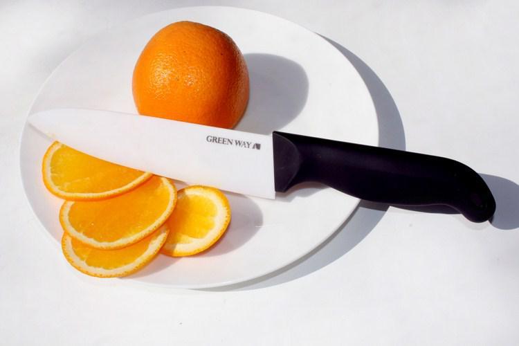 Нож керамический  длина лезвия 15,7 см
