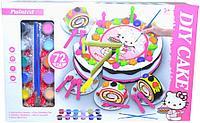 555-DG001 Раскраска тортик Hello Kitty 22*34
