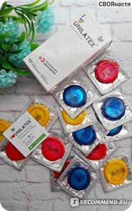 """Цветные презервативы """"Unilatex Multifruits"""" цветные ароматизированные, 1 штука"""
