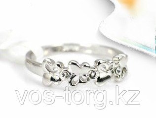 "Кольцо ""Бабочки"" серебро"