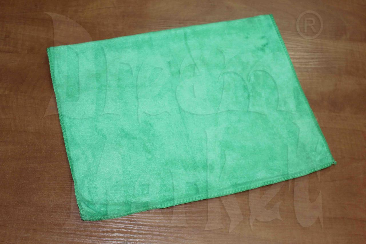 Тряпка микрофибра 600Х400 зеленая