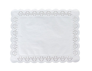 Pasticciere. Салфетки бумажные ажурные ПРЯМОУГОЛЬНАЯ 190*270 мм (250)