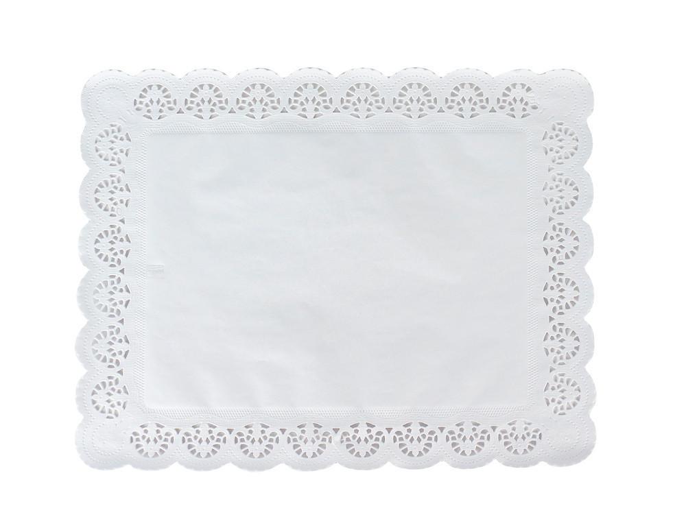 Pasticciere. Салфетки бумажные ажурные ПРЯМОУГОЛЬНАЯ 250*370 мм (250/2000 шт)