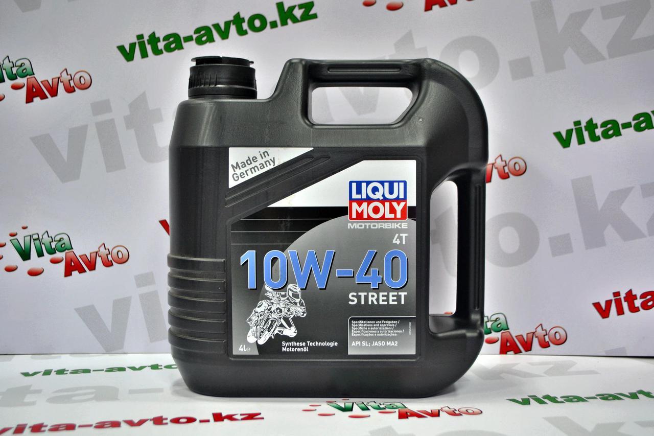 НС-синтетическое моторное масло для 4-тактных мотоциклов LIQUI MOLY Motorbike 4T Street 10W-40