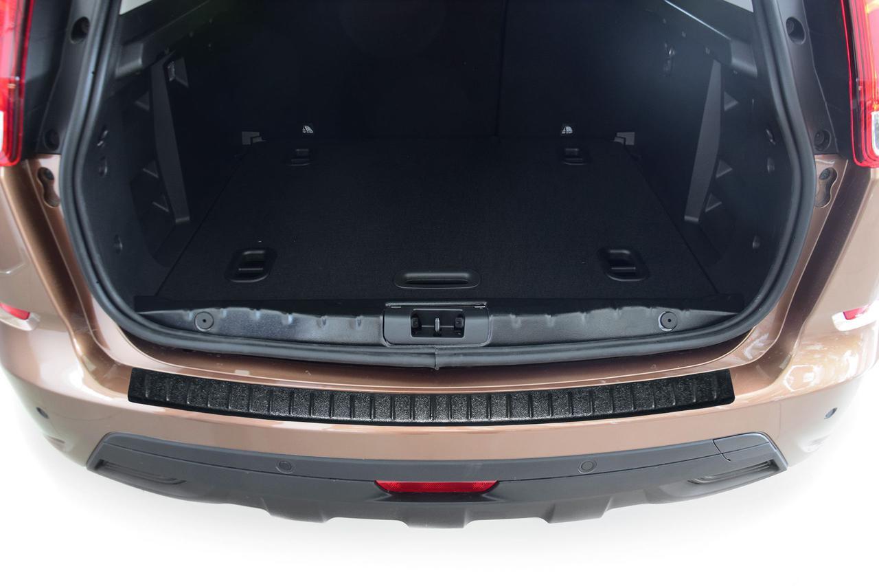 Накладка на задний бампер (Чёрное тиснение) (ABS) LADA XRAY 2016-