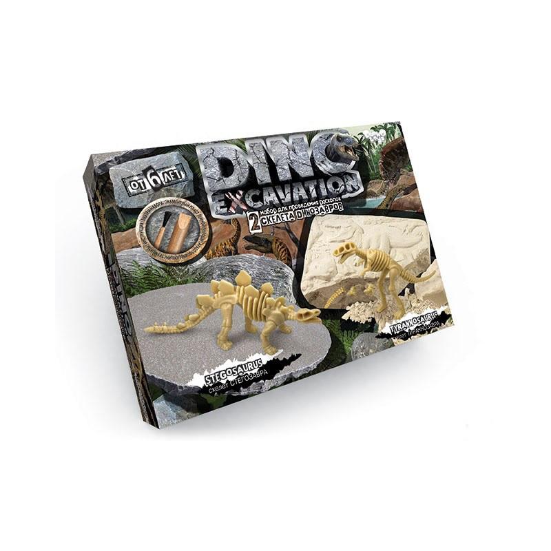 """Набор для проведения раскопок """"DINO EXCAVATION скелет Стегозавра, скелет Тираннозавра"""""""