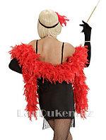Боа из перьев 210 см для вечеринок красный