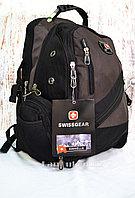 Городской рюкзак Swissgear с дождевиком коричневый