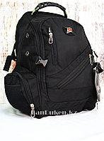 Городской рюкзак Swissgear с дождевиком черный