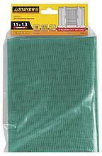 """Сетка STAYER """"STANDARD"""" противомоскитная для окон, в индивидуальной упак, стекловолокно+ПВХ, зеленая, 1,1х1,3м"""