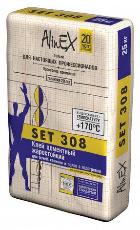 СЭТ 308 25кг жаростойкий (плиточный клей алинекс), фото 2
