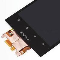 Дисплей Sony Xperia ION LT28i, с сенсором, цвет черный
