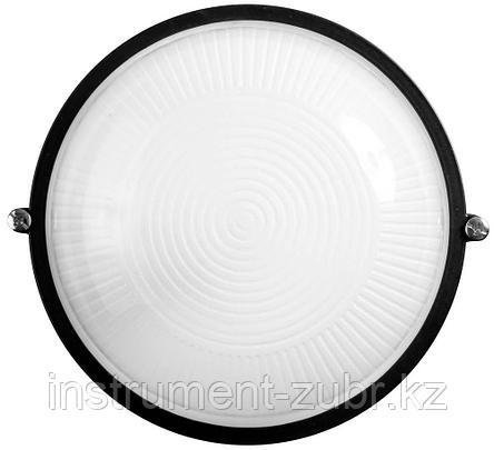 Светильник уличный СВЕТОЗАР влагозащищенный, круг, цвет черный, 60Вт                                                    , фото 2