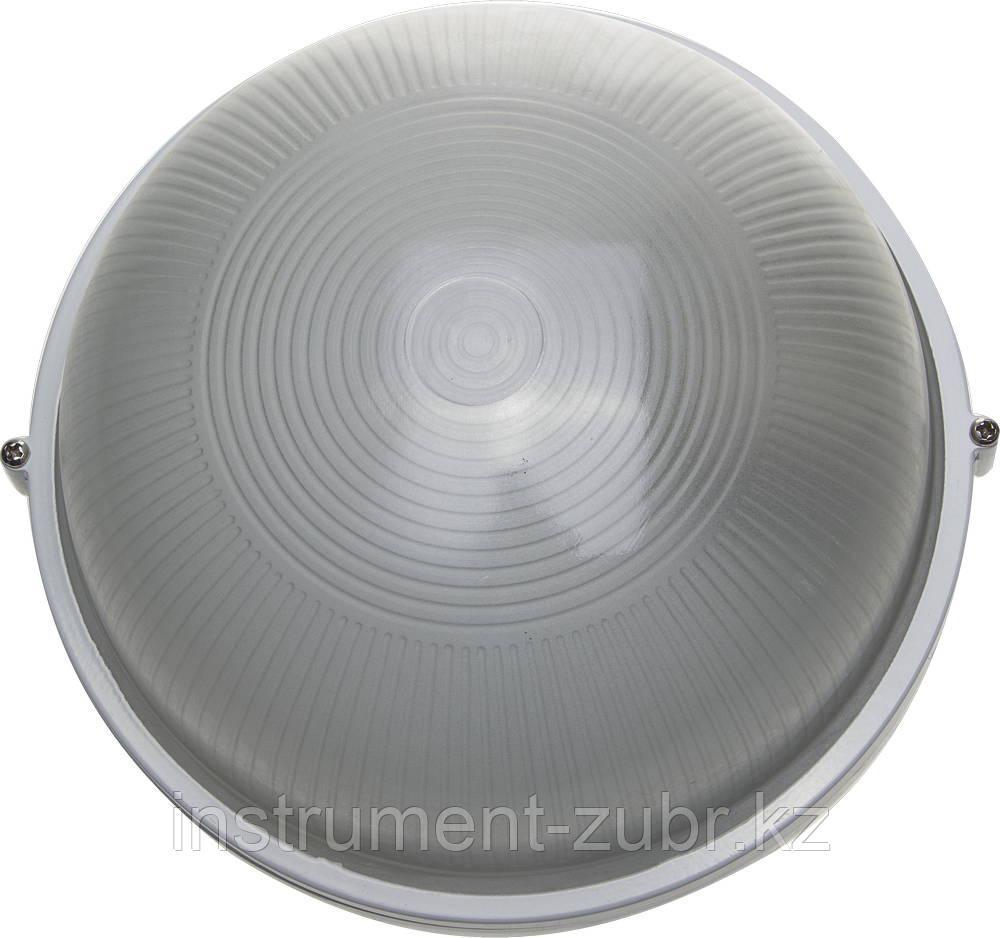 Светильник уличный СВЕТОЗАР влагозащищенный, круг, цвет белый, 100Вт