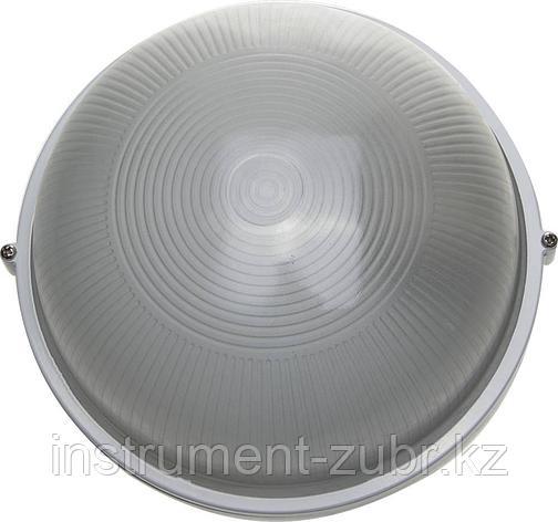 Светильник уличный СВЕТОЗАР влагозащищенный, круг, цвет белый, 100Вт                                                    , фото 2