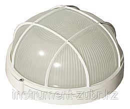 Светильник уличный СВЕТОЗАР влагозащищенный с решеткой, круг, цвет белый, 100Вт
