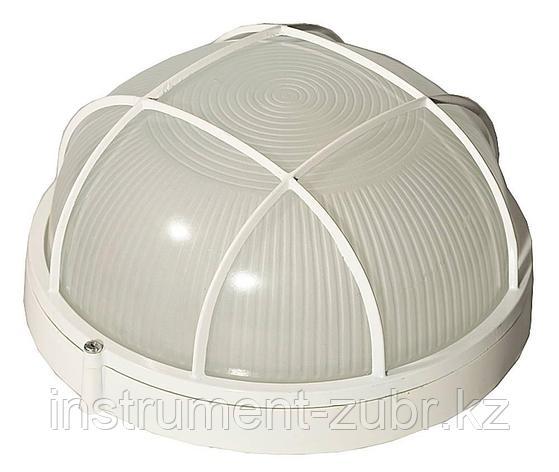 Светильник уличный СВЕТОЗАР влагозащищенный с решеткой, круг, цвет белый, 100Вт                                         , фото 2