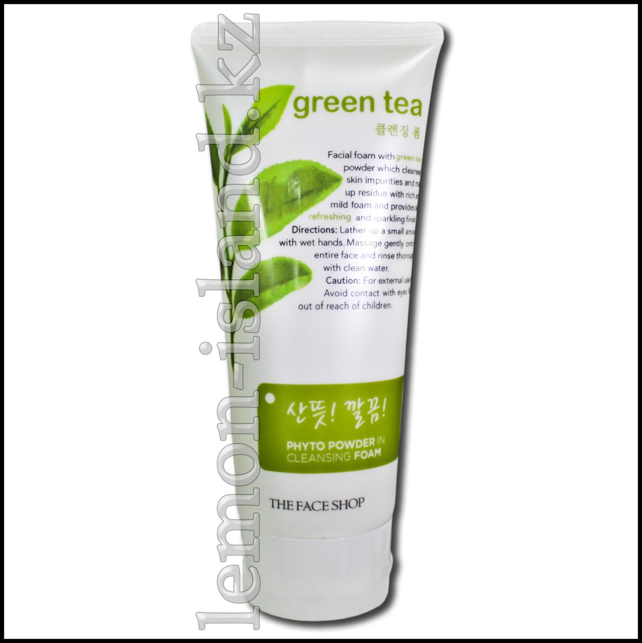 Гель для умывания The Face Shop с экстрактом зелёного чая (Юж.Корея).
