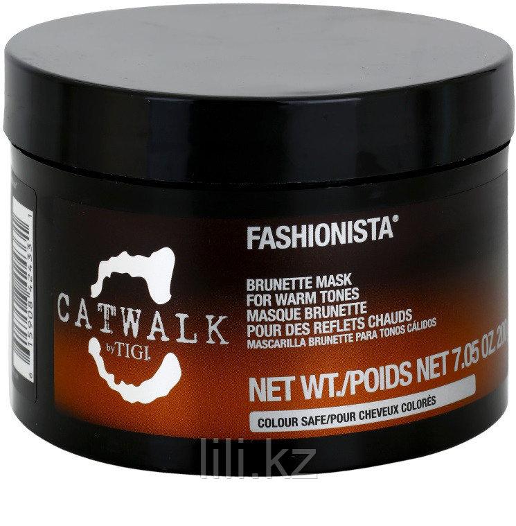 Тонирующая маска для темных волос - TIGI Catwalk Fashionista Brunette Mask 200 мл.
