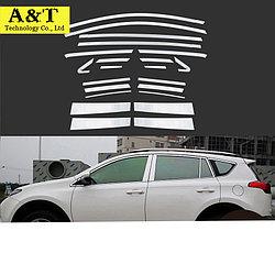 Комплект молдингов на окна и стойки дверей RAV4 (XA40) 2013 - 2015