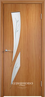 """Межкомнатная дверь Verda C-2 (остекленное """"САТИНАТО"""" с фьюзингом)"""