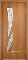 """Межкомнатная дверь Verda Тип С-2 (остекленное """"САТИНАТО"""" Витраж/ Витраж 2)"""