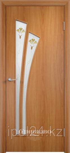 """Межкомнатная дверь Verda Тип С-7  (остекленное """"САТИНАТО"""" Витраж/ Витраж 2)"""
