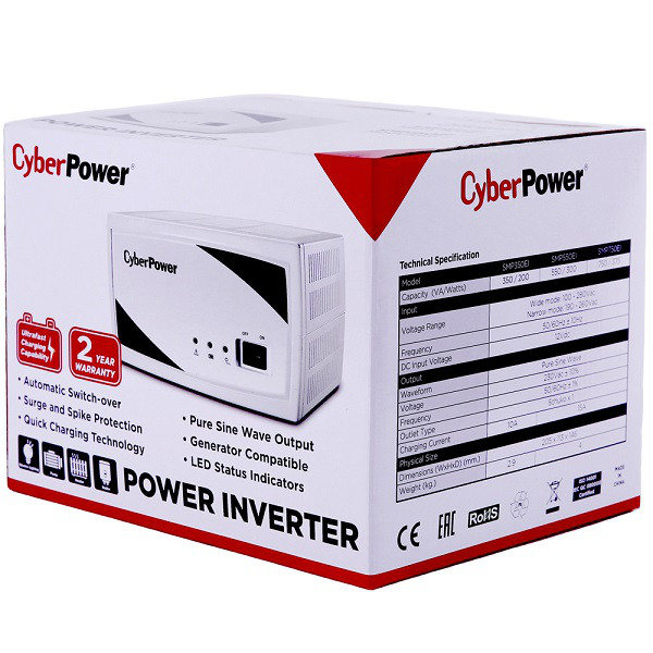 Автоматический инвертор CyberPower SMP750EI (750VA/375W) 12В