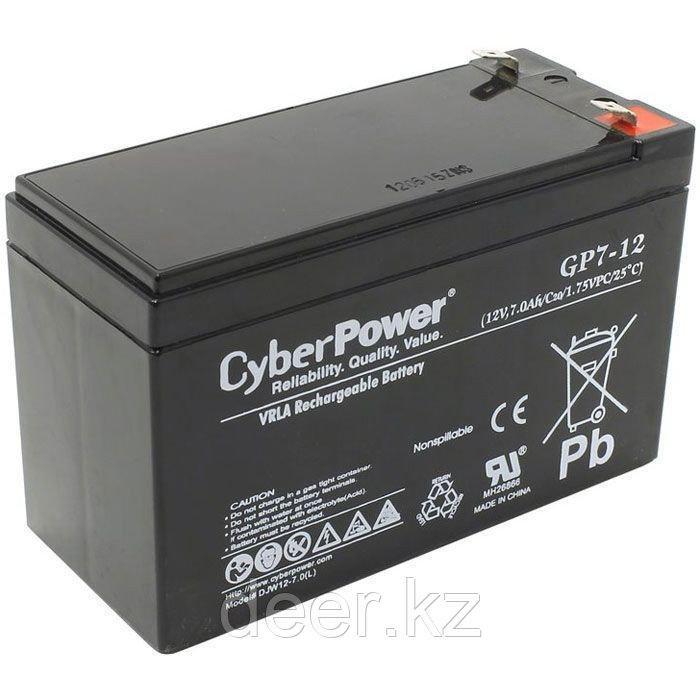 Аккумулятор CyberPower 12V7Ah (151х65х101 мм, 2.3 кг) GP7-12