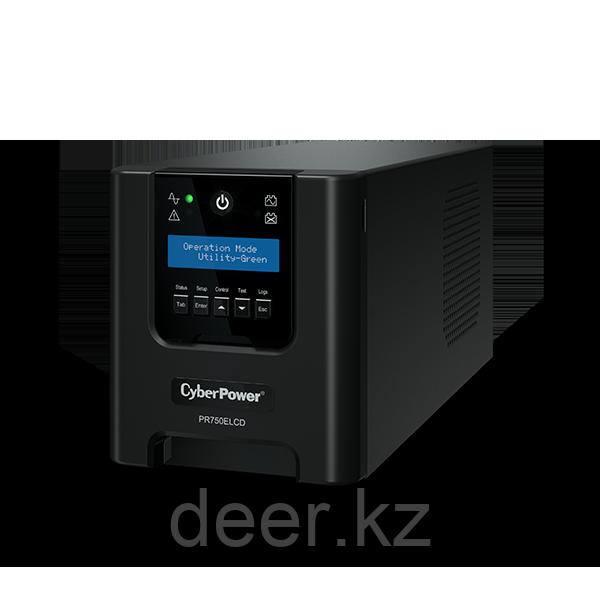 Интерактивный ИБП, CyberPower PR750ELCD, выходная мощность 750VA/670W