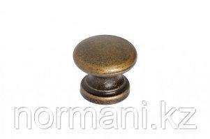 Ручка-кнопка, отделка бронза античная